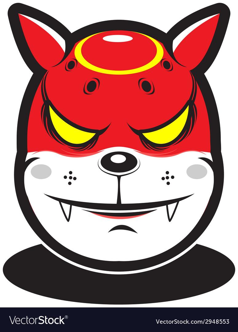 Cute red fire element cartoon monster