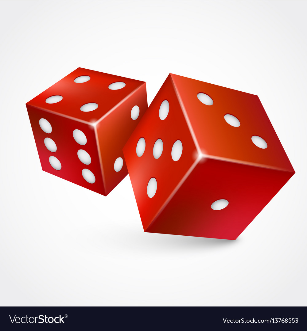 Game dices isolated on white background