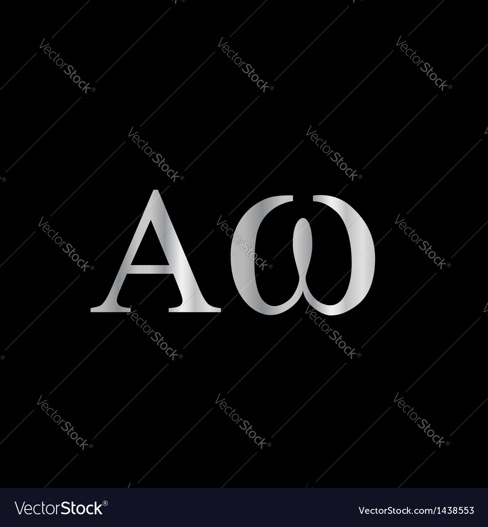 Greek Letter- Alpha and Omega vector image