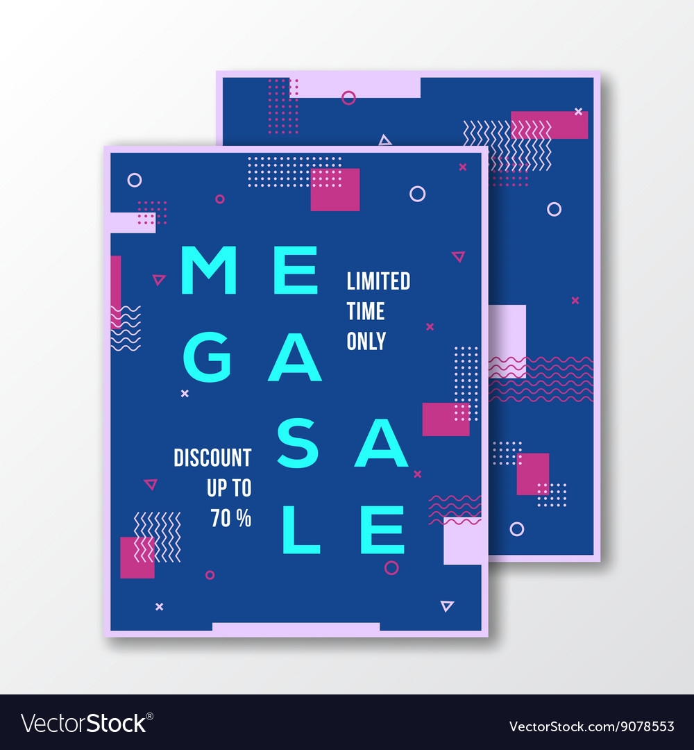 Mega Sale Season Poster Card or Flyer Template