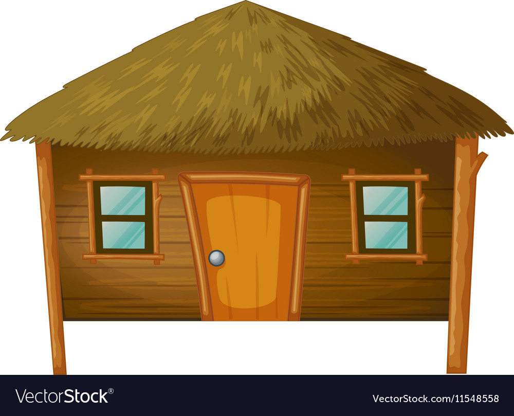 Bungalow made of woods vector image