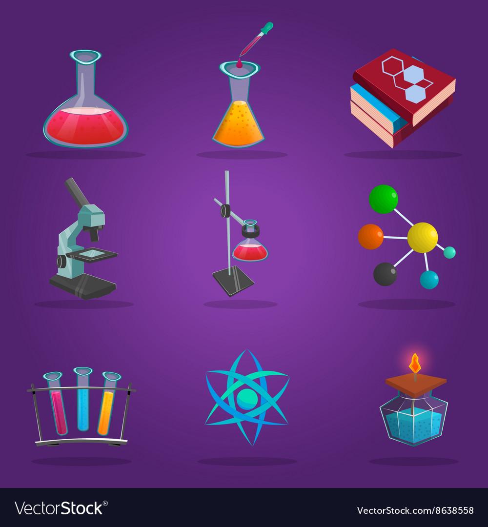 Chemistry Lab Icon Set