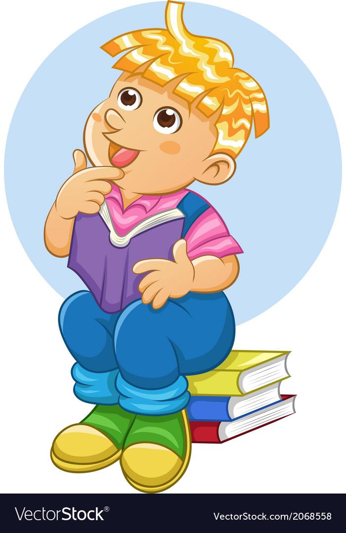 Child thinking vector image