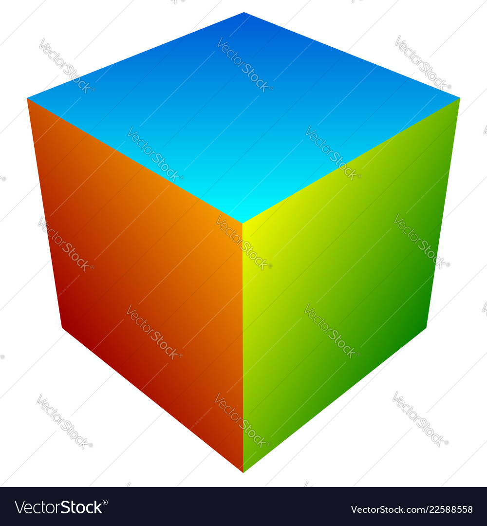 Colorful cube icon modern bright generic icon