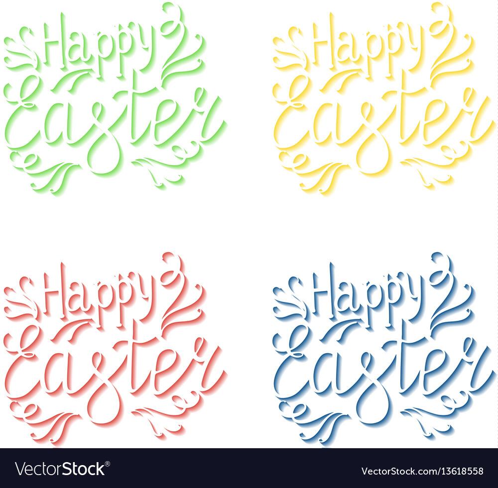 Happy easter lettering egg