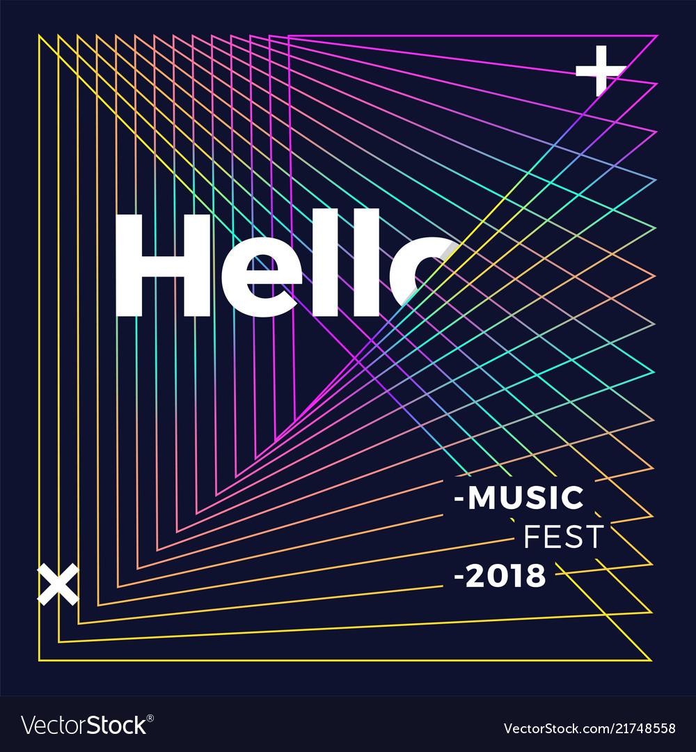 Music wave poster design gradient line waves