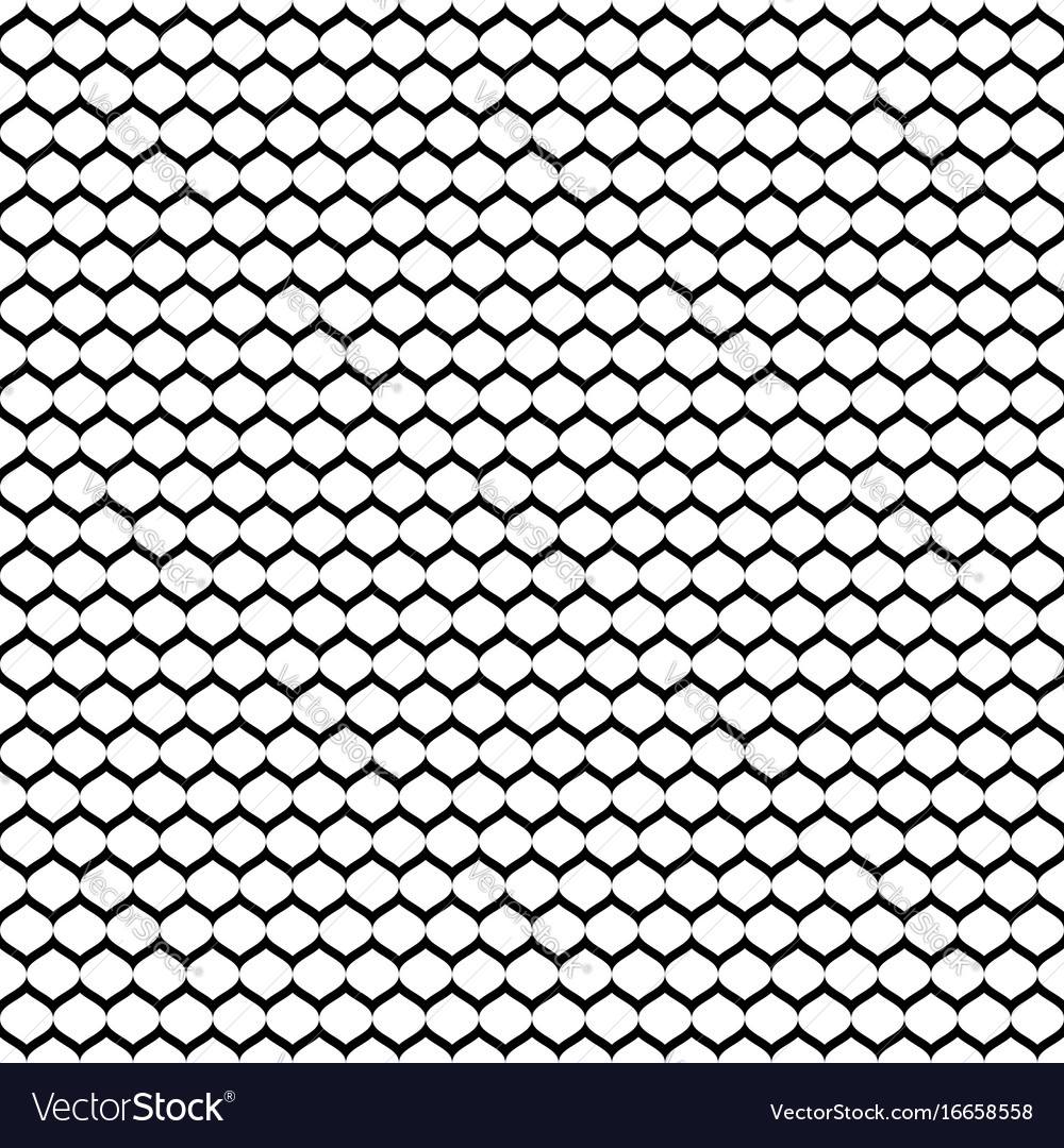 Seamless pattern monochrome mesh black white vector image