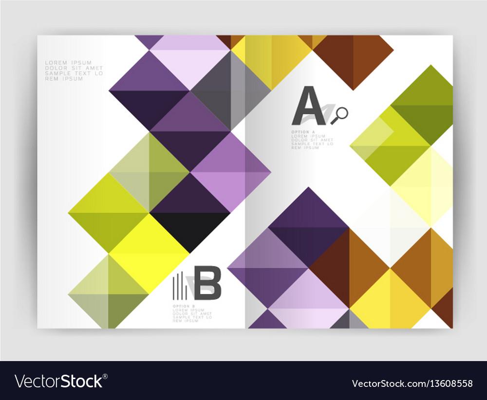 Square annual report brochure a4 print template