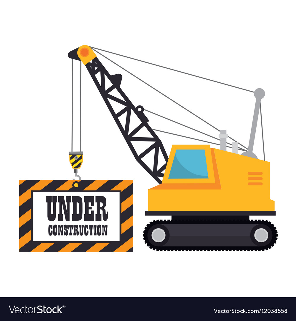 Under construction machinery icon