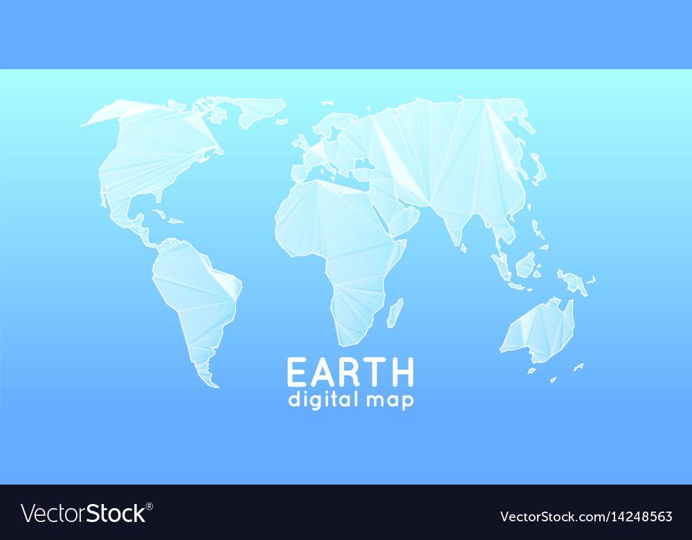 Abstract polygonal mesh world map