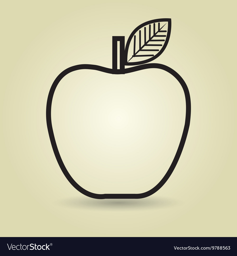 Apple fruit isolated icon design