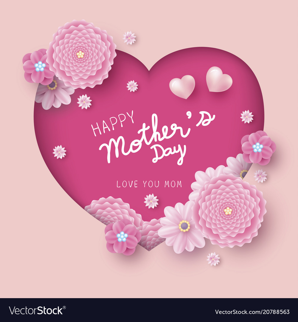 Happy mothers day card concept design