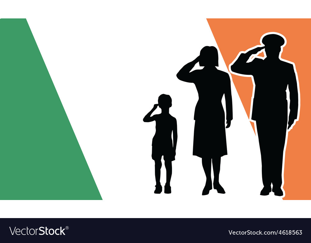 Ireland soldier family salute