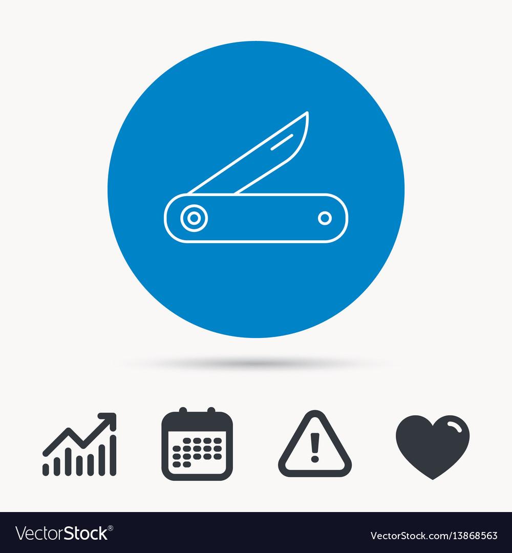 Multitool knife icon multifunction tool sign