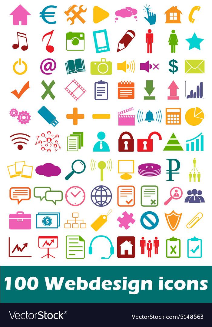 Simple webdesign icon set