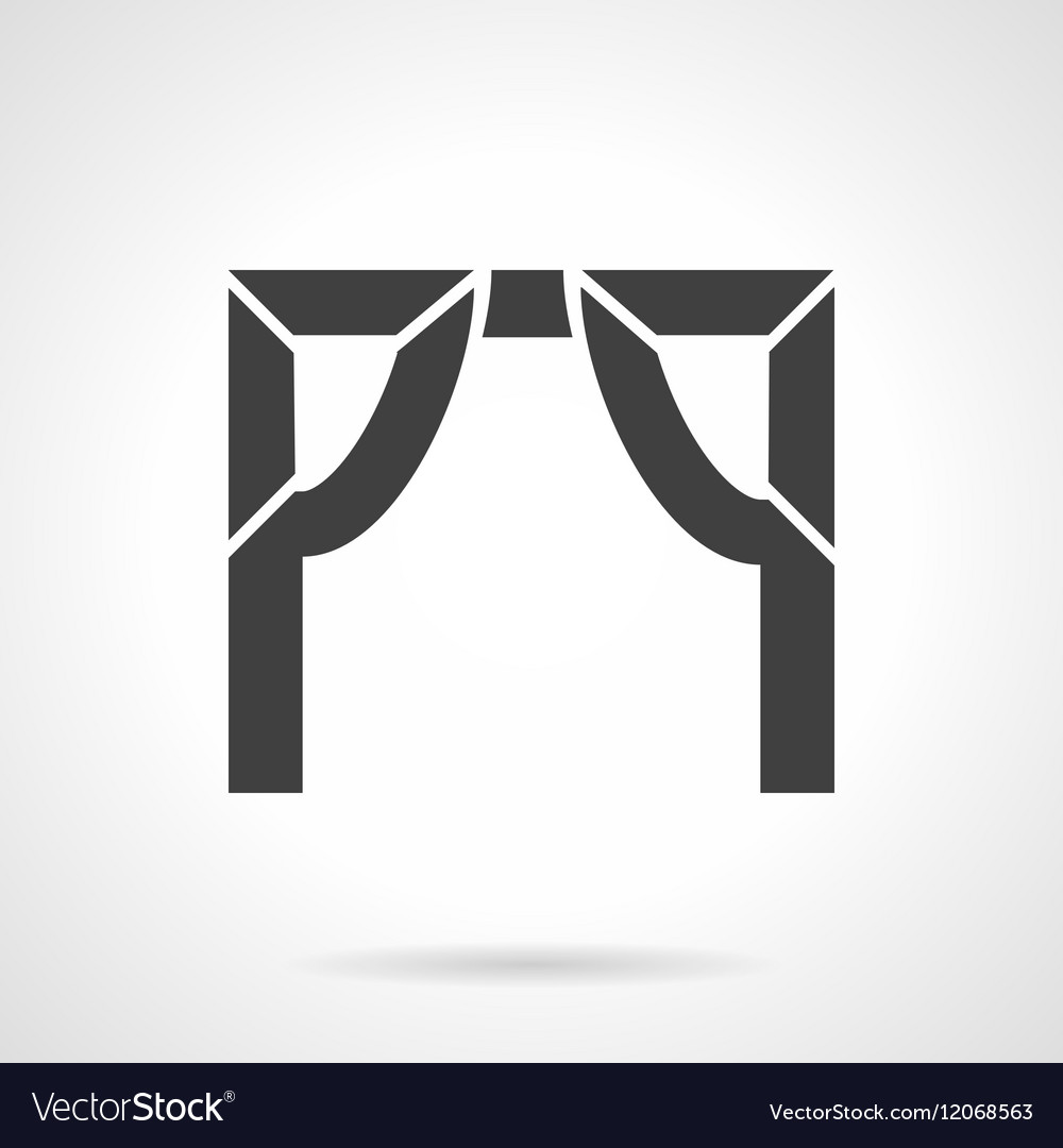 Tented arch glyph style icon