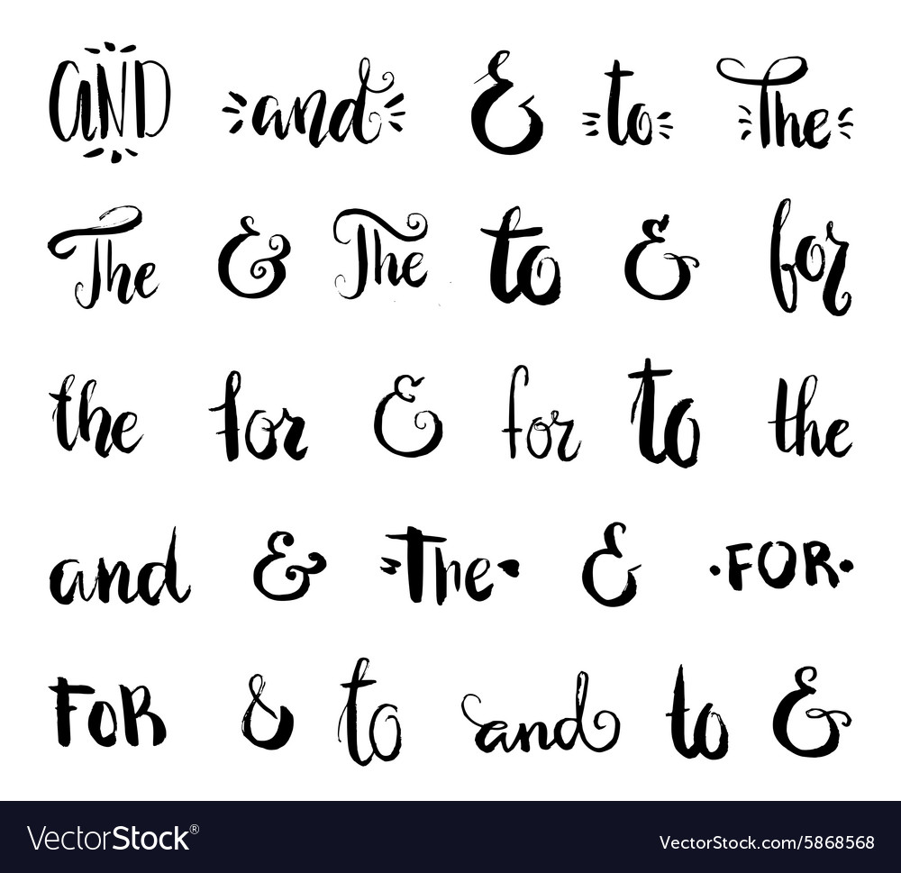 Ampersand and Catchwords
