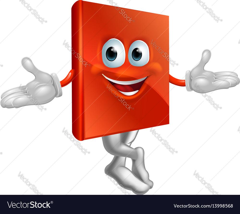 Book mascot man vector image