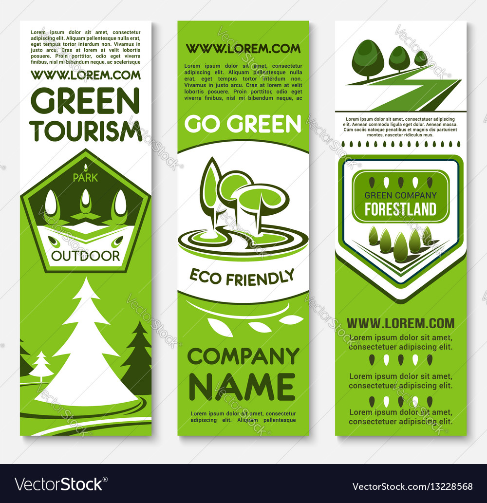 Business template banner set for ecotourism design