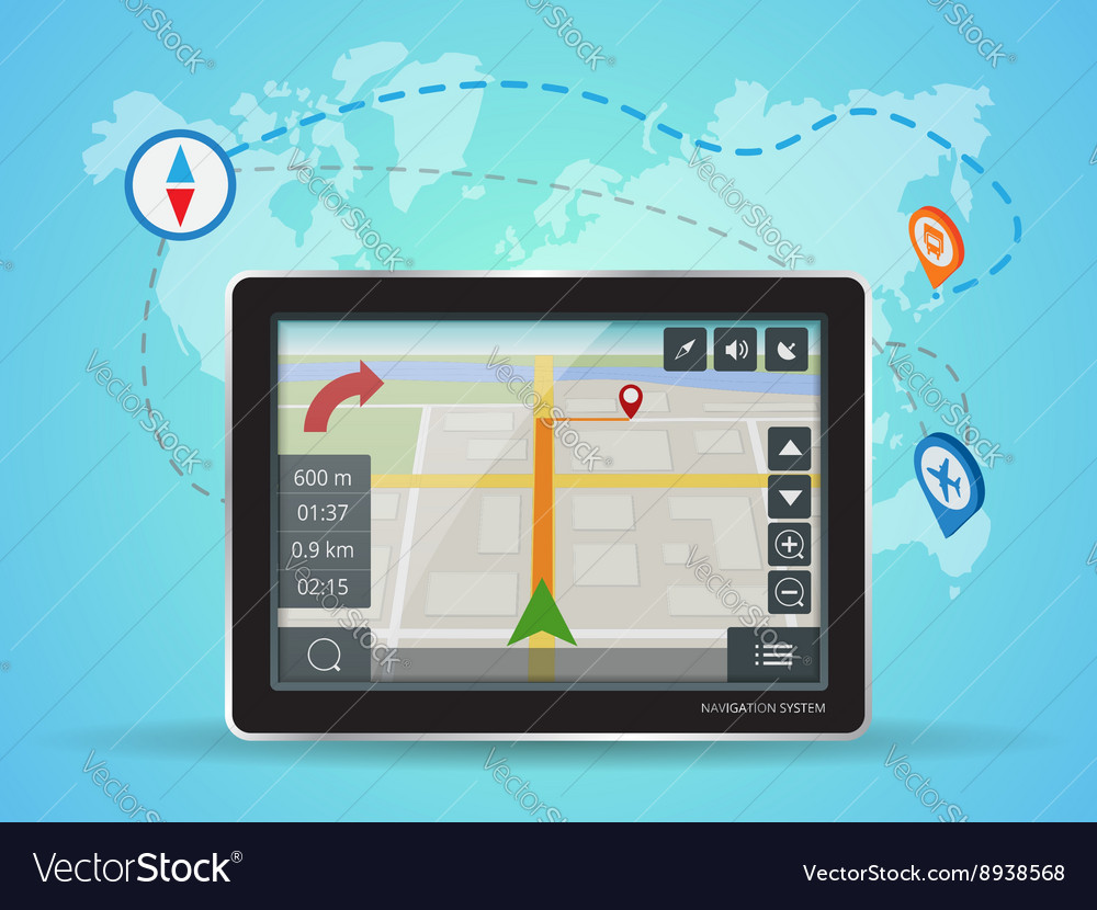 Geolocation gps navigation touch screen tablet