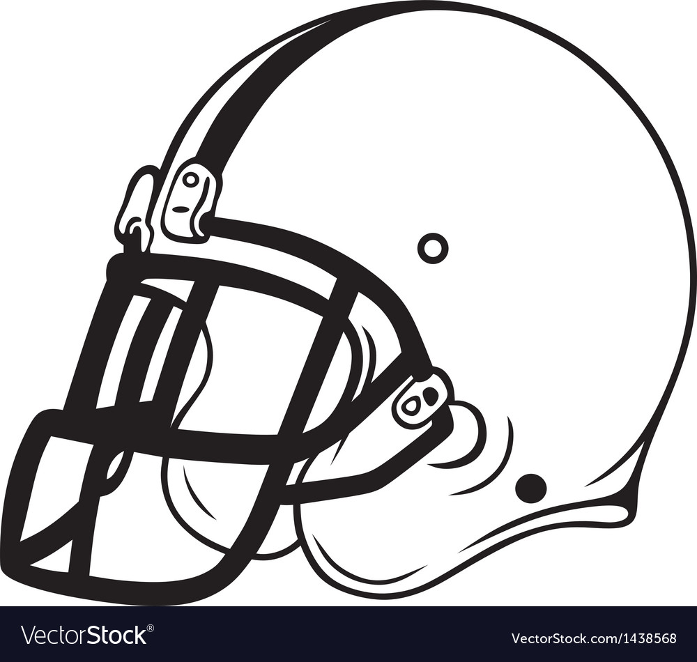 Helmet football vector image