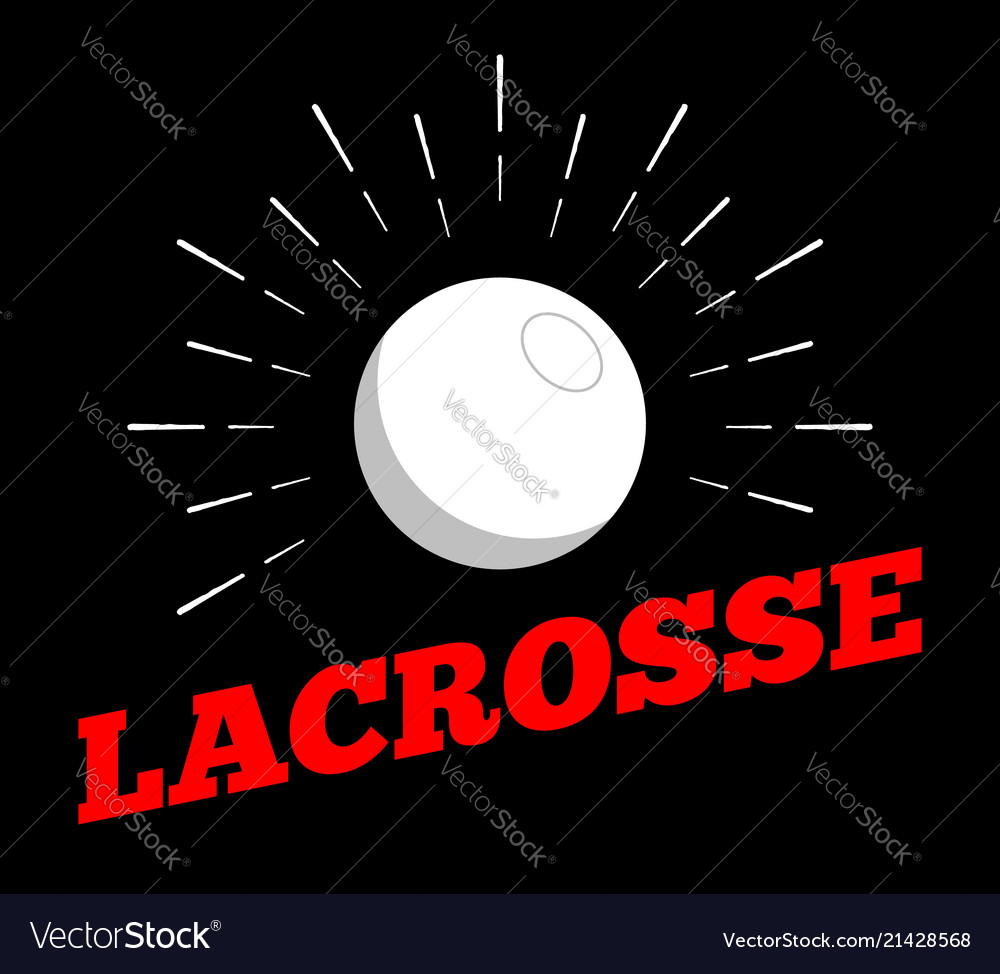 Lacrosse sport ball logo icon sun burtst print