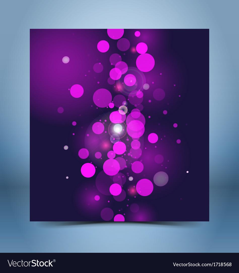 Purple black bokeh template vector image