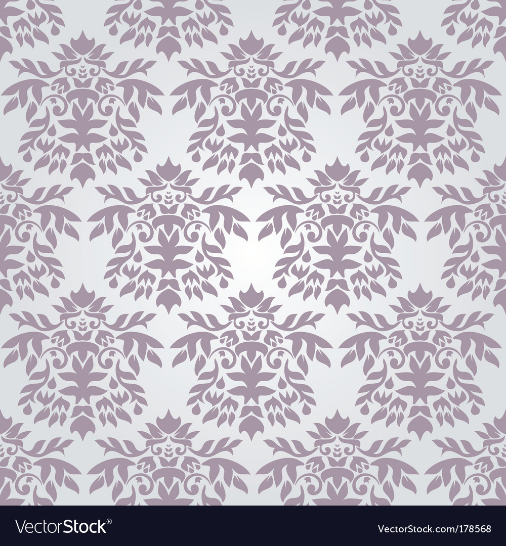 Silver Damask Wallpaper Royalty Free Vector Image