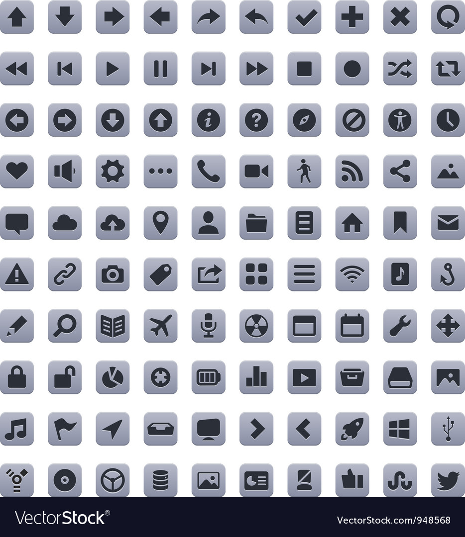 Stroke Icons vector image