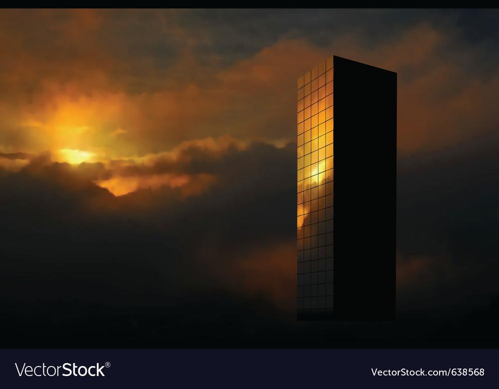 Sunrise skyscraper