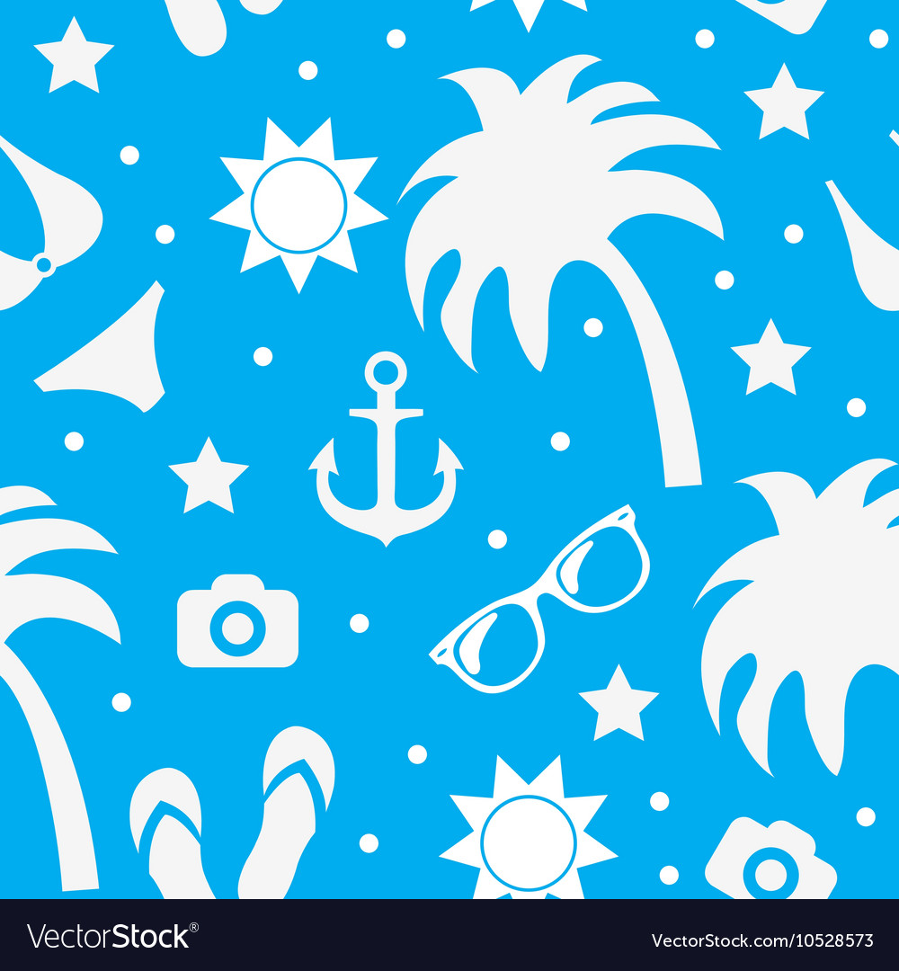 Beach seamless texture summer background season