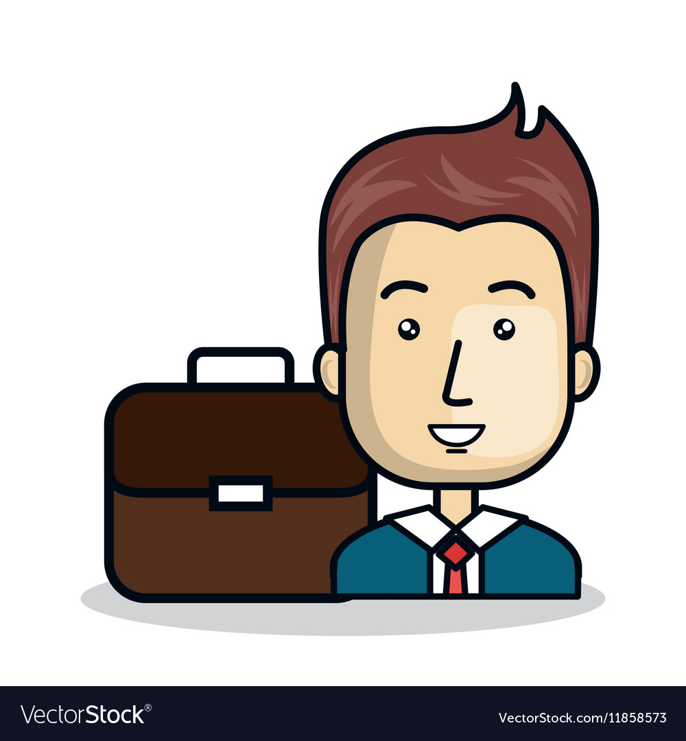 Businessman character flat icon