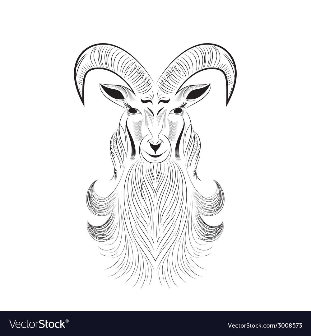 Goat tattoo Royalty Free Vector Image - VectorStock