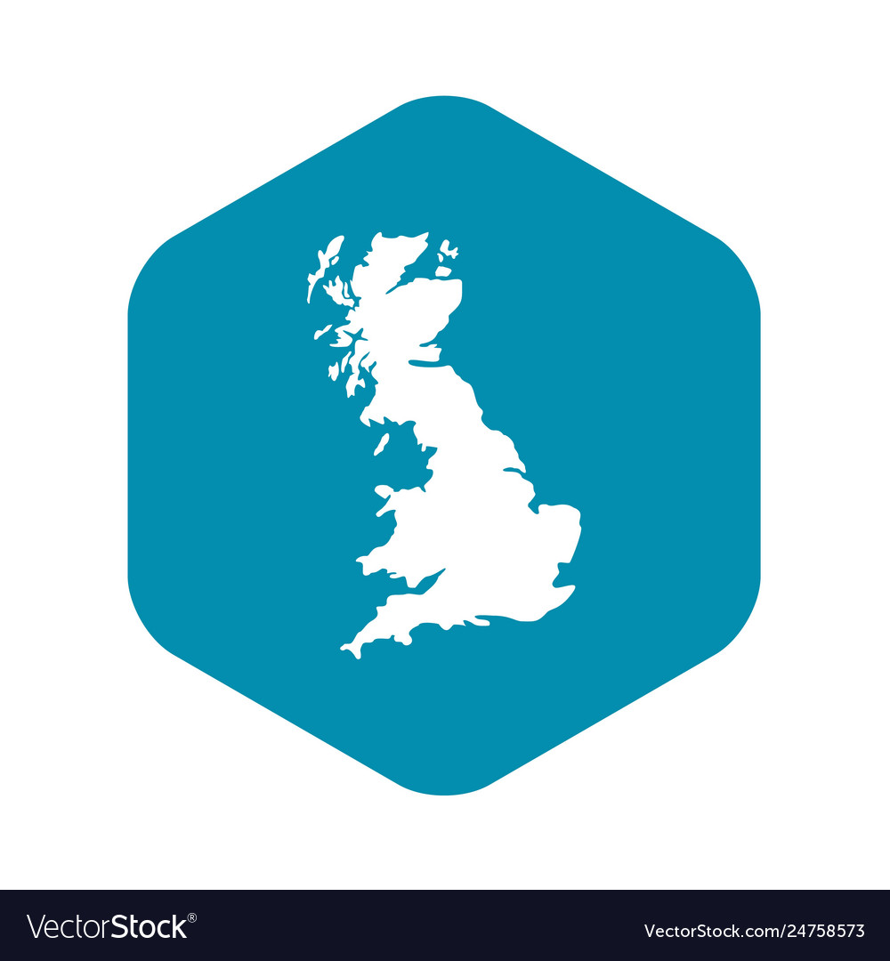 Map great britain icon simple style