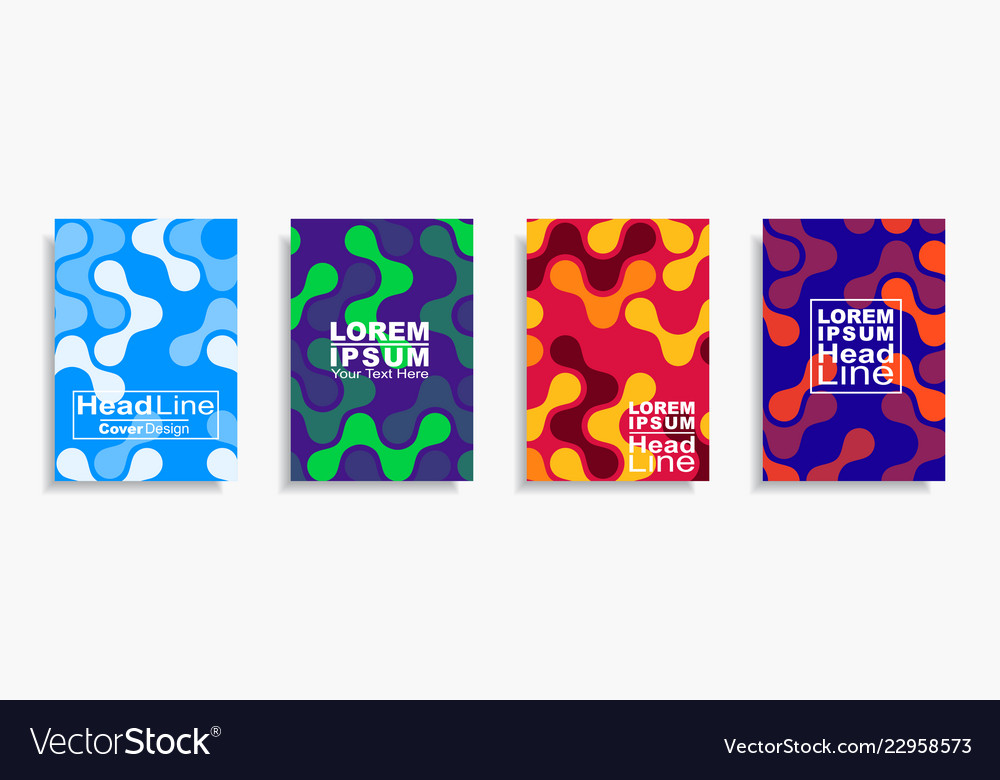 Modern abstract design covers set