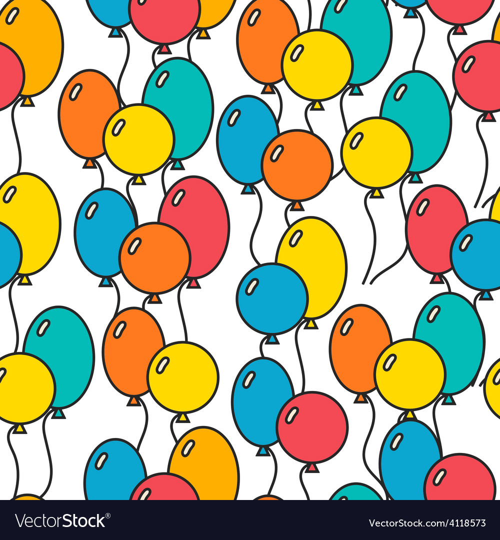 Seamless holiday background with balloons