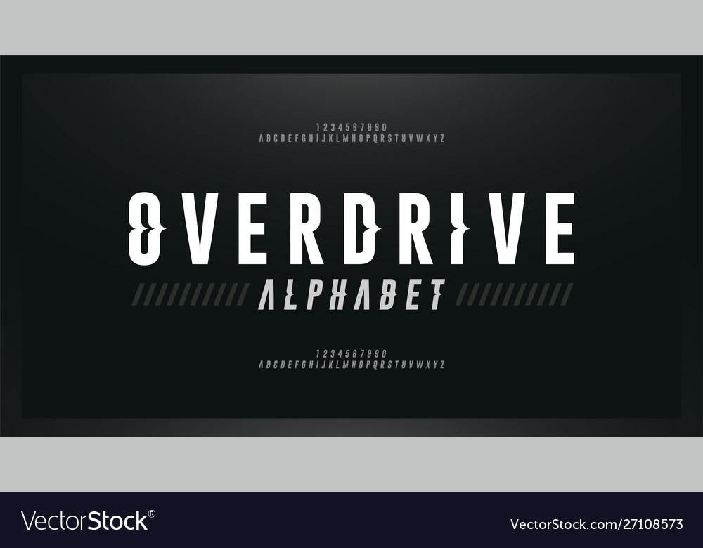 Sport modern italic alphabet font typography wave
