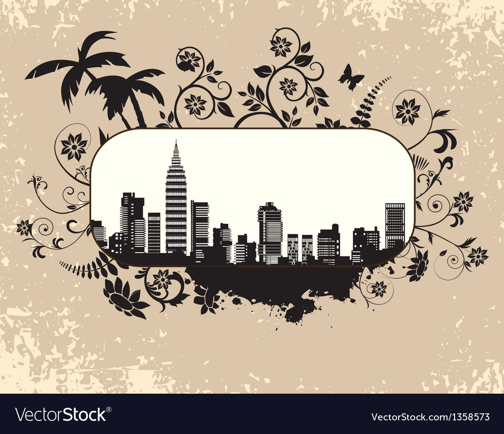 The citys skyline vector image