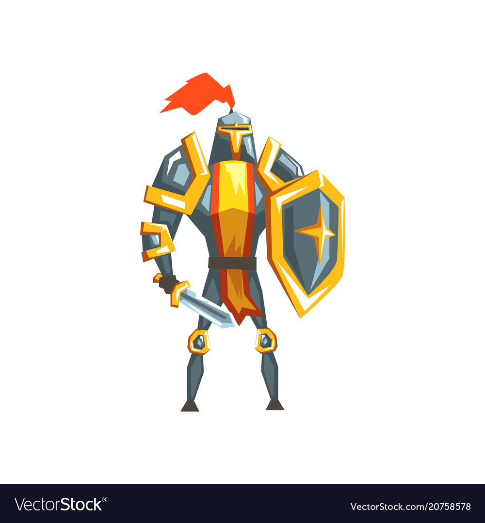 Armored knight warrior character