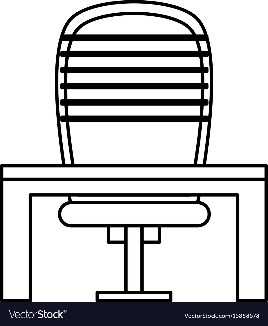 Ceo chair with desk vector image