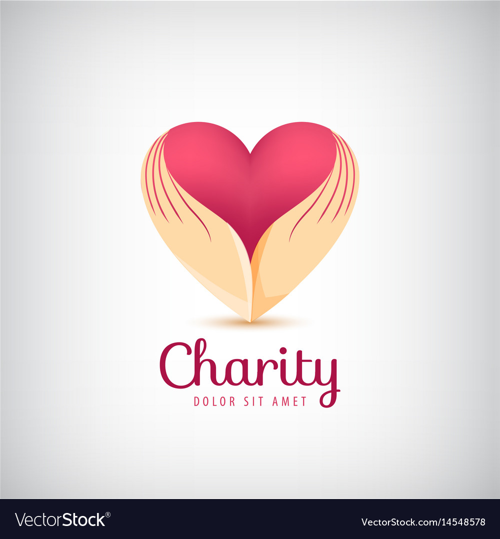 Charity logo 2 hands holding heart icon
