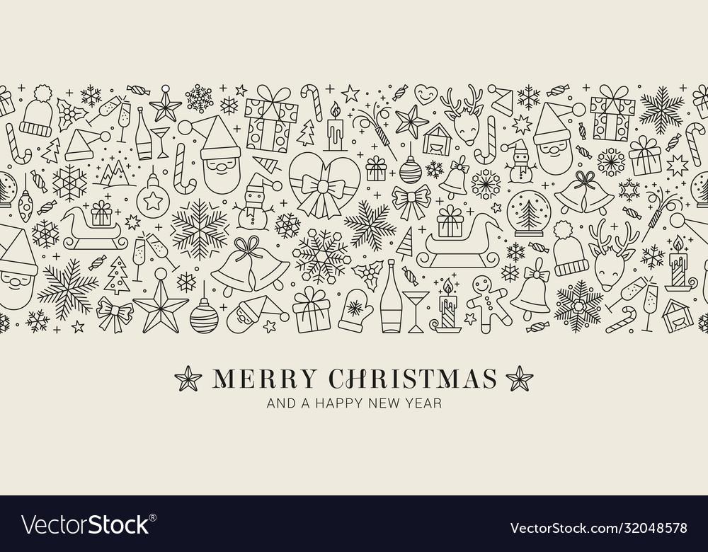 Design christmas decoration - seamless pattern