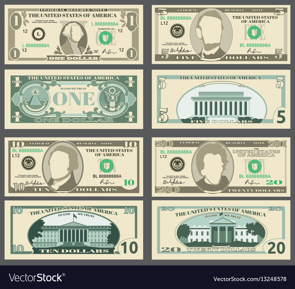 Dollar banknotes us currency money bills