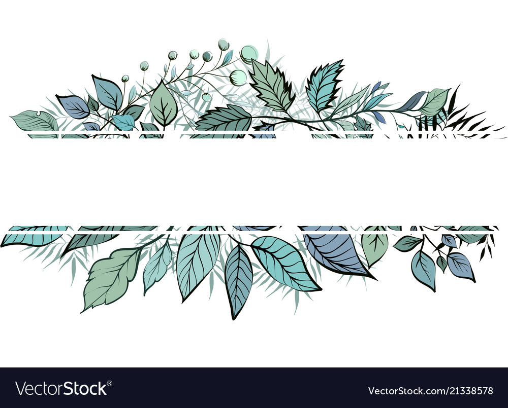 Floral greenery card design forest