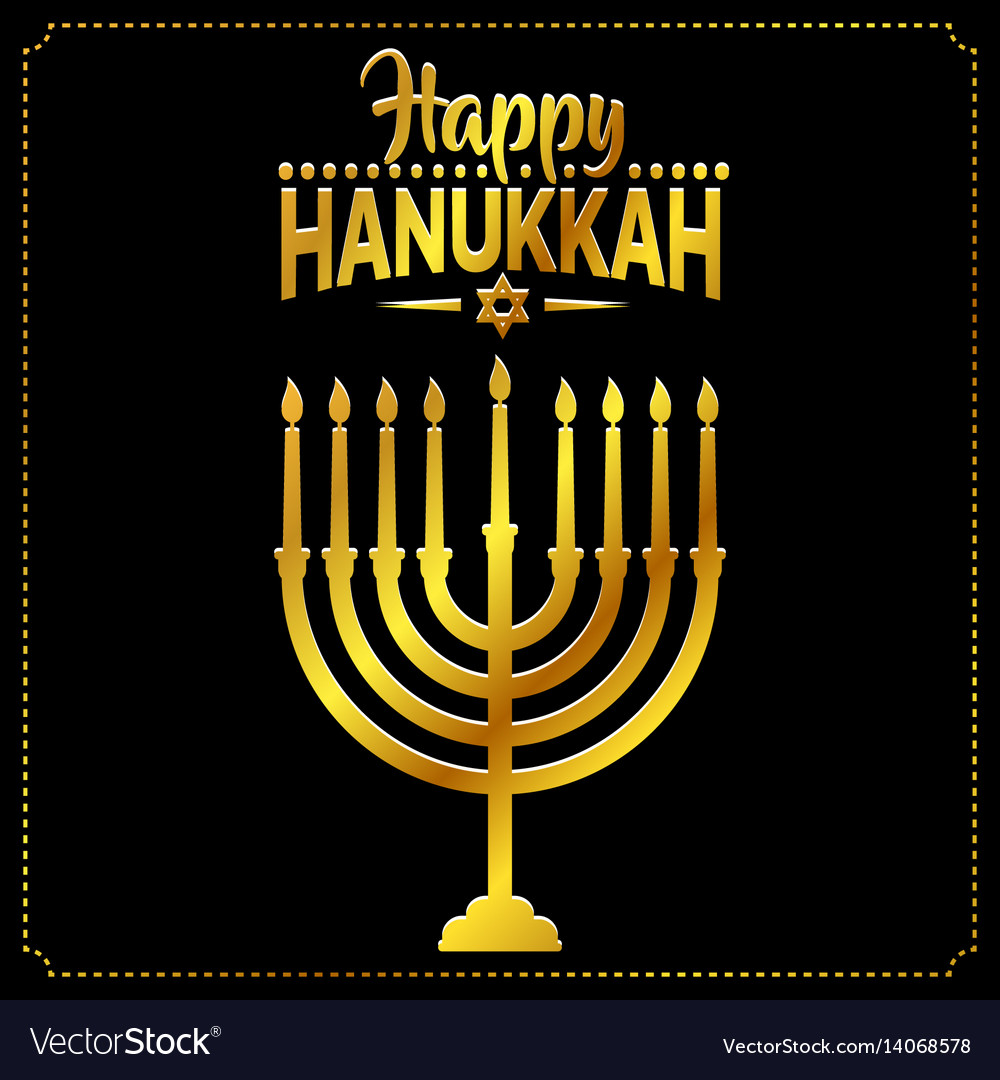 Happy hanukkah background cover card celebration