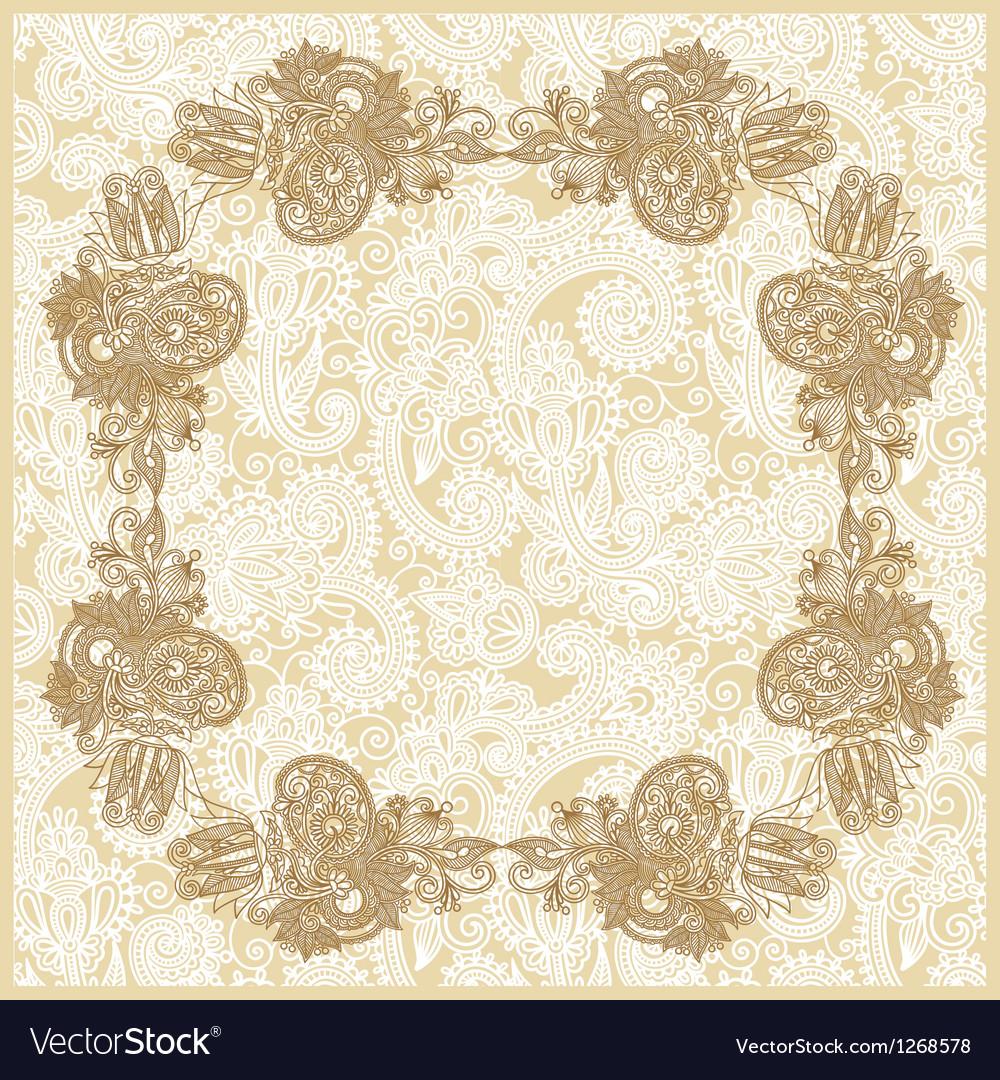 Ornate floral background Invitation vector image