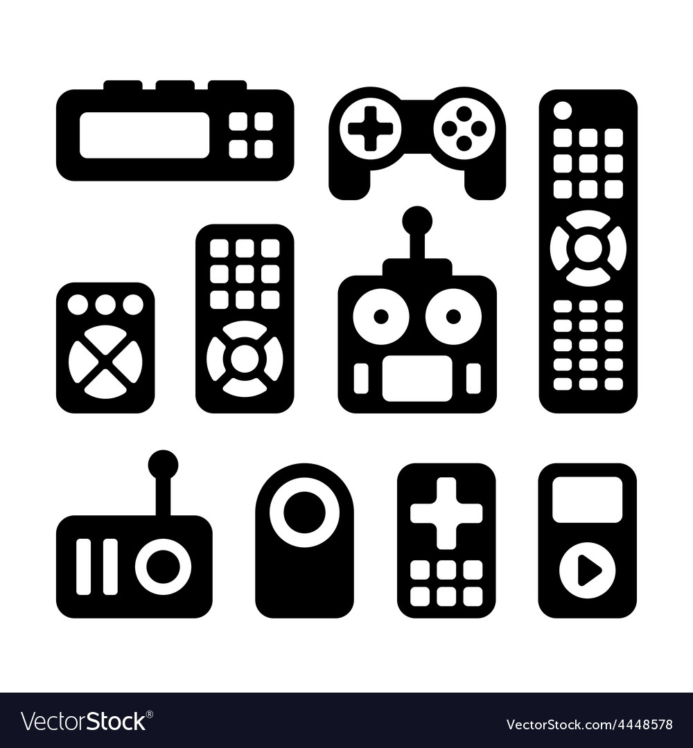 remote control icons set royalty free vector image