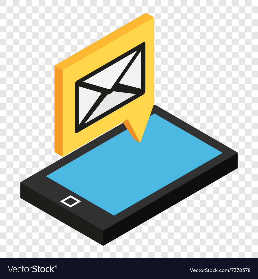 Sms isometric 3d icon vector image