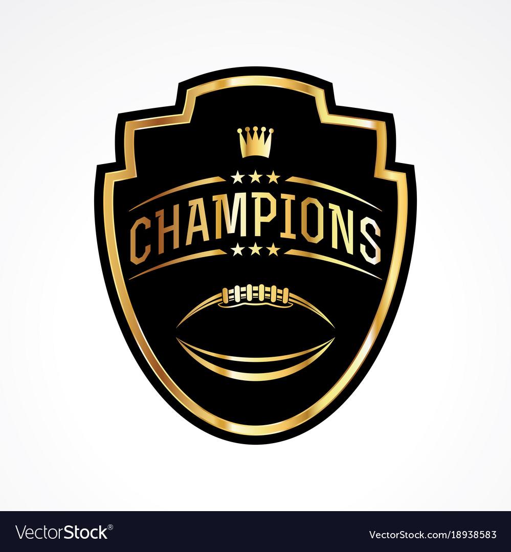 American football champions badge emblem Vector Image 0988a714b