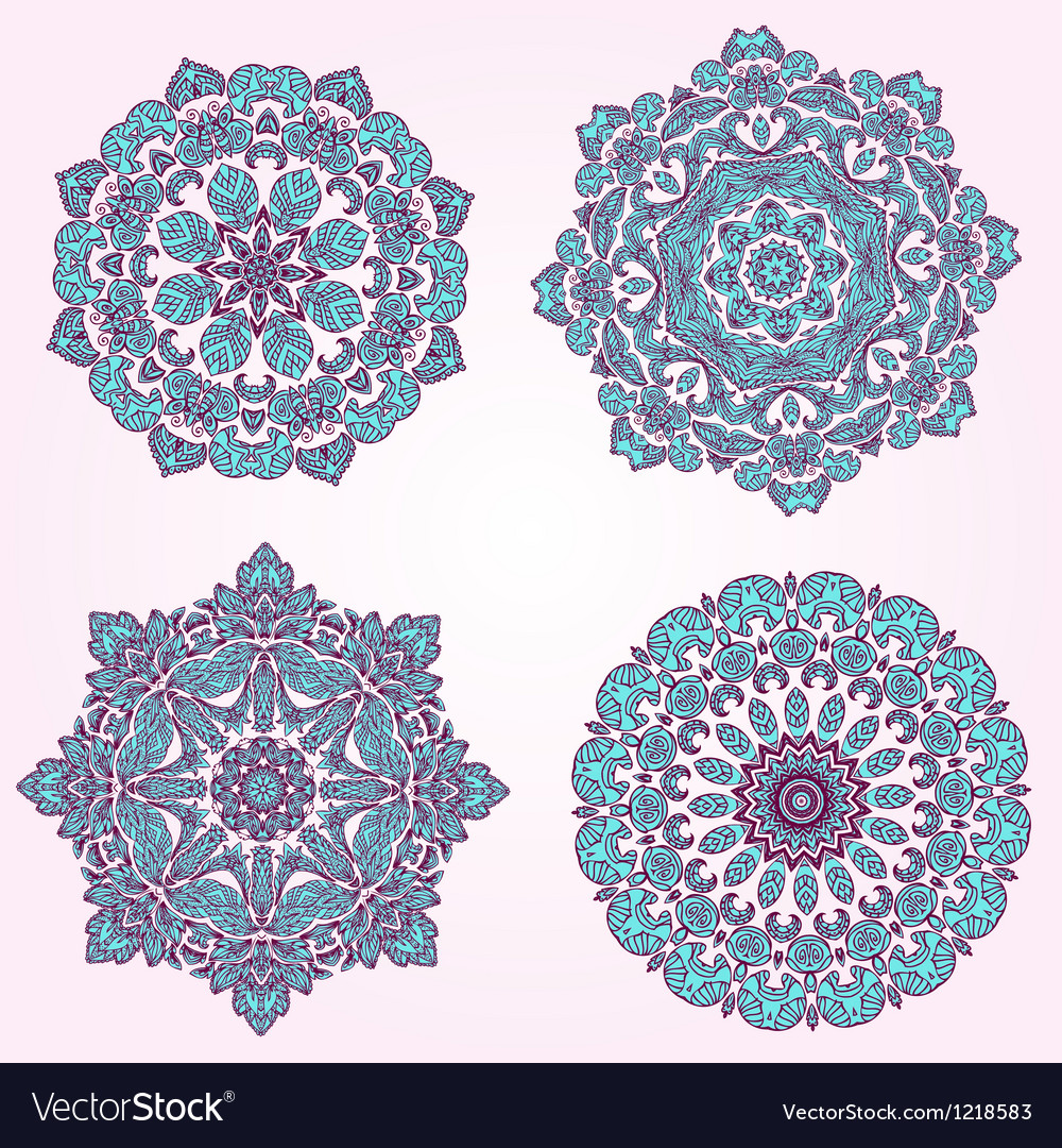 Arabesque set3 vector image